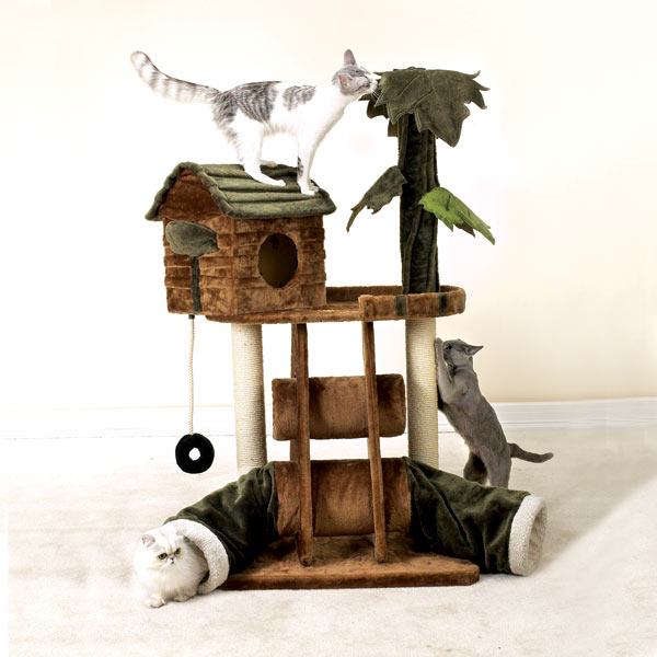 cat toy tree house