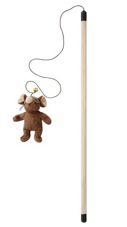 cat nip cat toy teaser wand for cats with mouse